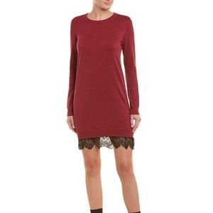 NWT BCBG Generation Lace Trimmed Sweater Dress